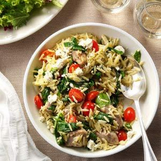 Mediterranean Pork and Orzo