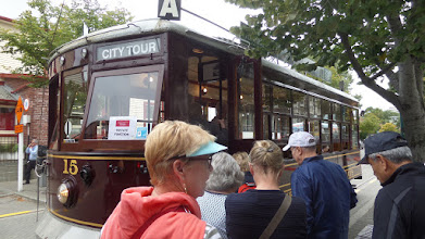 Photo: A 1912 tram built in Philadelphia by the Brill Company transported our group on an informative city tour.