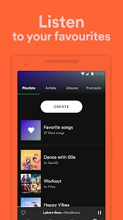 Spotify: Listen to your favourite music & podcasts Screenshot