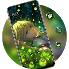 Bright firefly girl anime in the dark world theme icon