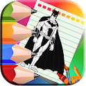 Comics Heroes Coloring book icon