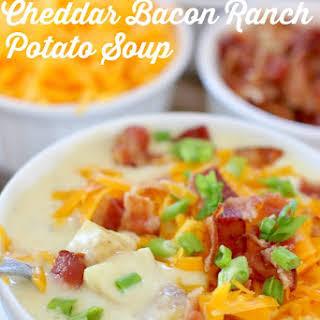 Crockpot Cheddar Bacon Ranch Potato Soup.