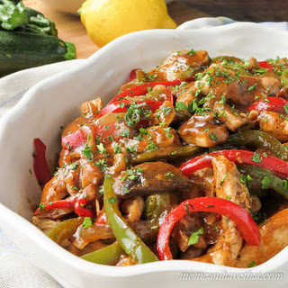 Sherry Chicken Saute with Mushrooms & Peppers