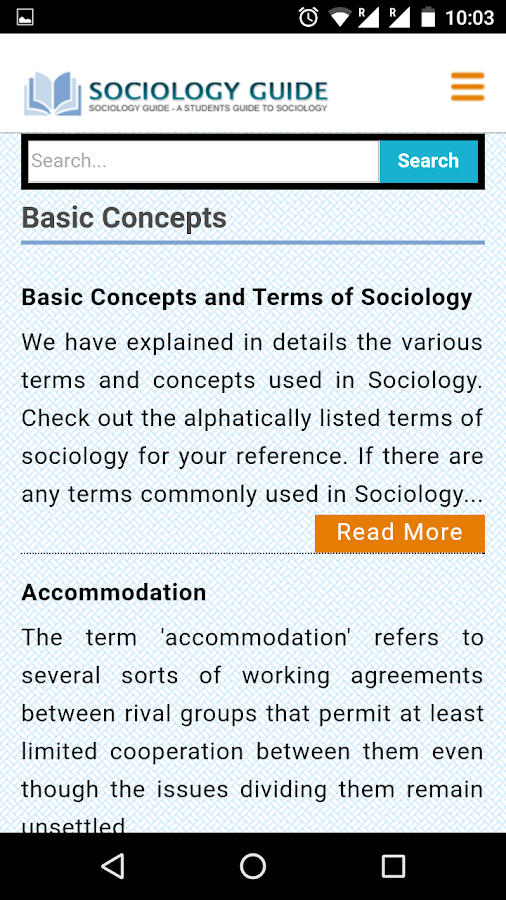 Sociology Guide- screenshot