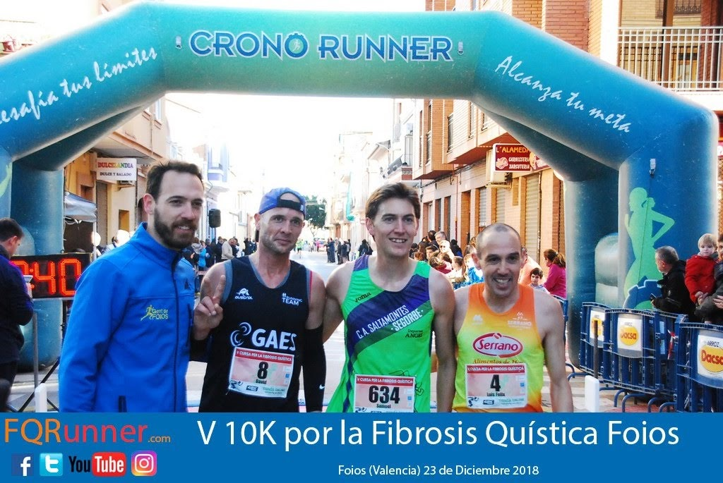 Podium carrera 10K Foios