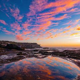 Reflections by Colin Thackeray - Novices Only Landscapes ( maroubra, mahon pool, sunrise, rockpool, sydney )
