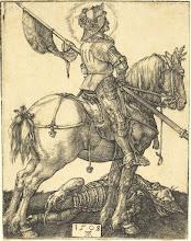 Photo: Albrecht Dürer (German, 1471 - 1528 ), Saint George on Horseback, 1508, engraving, Gift of R. Horace Gallatin
