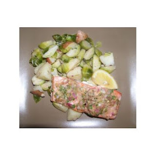Wild Alaskan Salmon With Brussels Sprouts and Walnut-Lemon Vinaigrette