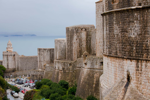 Old-Dubrovnik-battlements.jpg - Old Dubrovnik's walled compound, completed in the 13th century and later reinforced, has a circumference of more than a mile and a half.