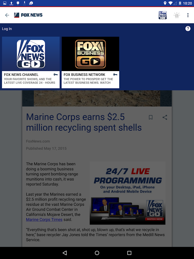 Fox News- screenshot