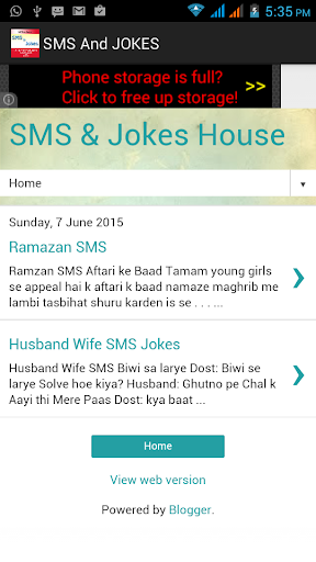 sms and jokes
