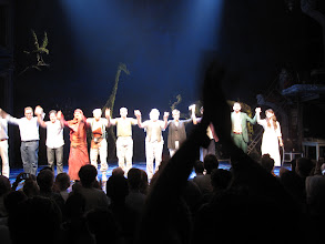 """Photo: Final Curtain Call for Broadway show """"Bengal Tiger in the Baghdad Zoo"""""""