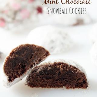 Mint Chocolate Snowball Cookies