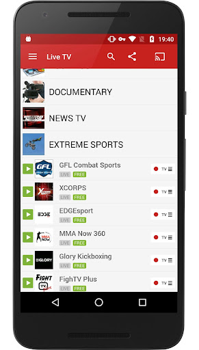 FilmOn Live TV FREE Chromecast 2.4.3 screenshots 1