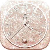 Live Clock Glitter Wallpaper