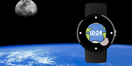 Earth Moon Wear Watch Face