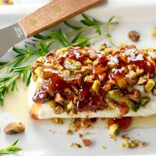 Goat Cheese with Honey, Fig & Pistachios.