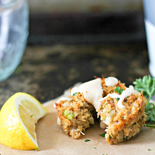 Spicy Muffin Tin Crab Cakes with Old Bay Remoulade