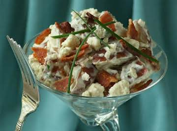 Bleu Moon Potato Salad with Bacon and Chives