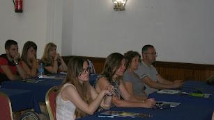 Alumnos durante el curso que se celebra en Adra.