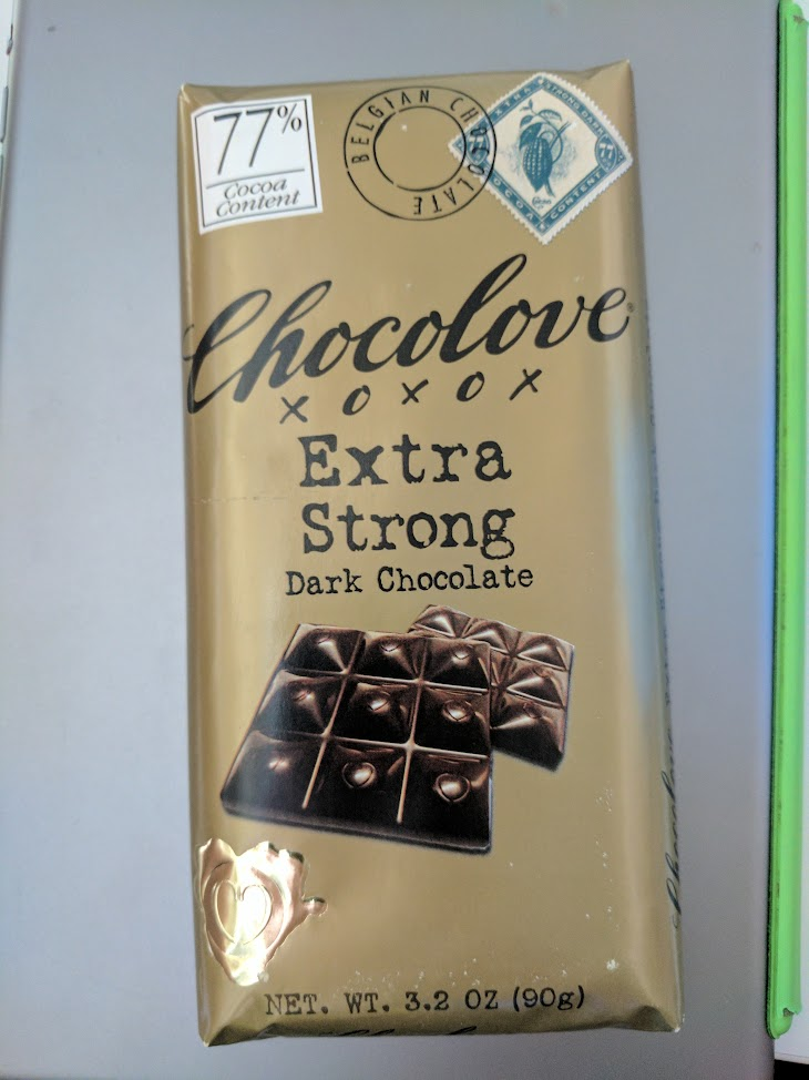 77% chocolove bar