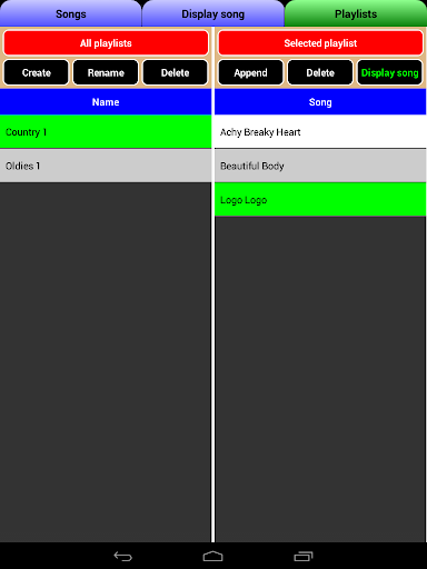 Songbook, MusicBook, MP3 Player, MIDI Karaoke 1.93 screenshots 5
