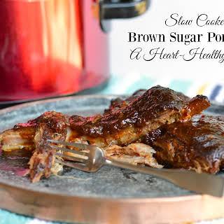 Slow Cooker Brown Sugar Pork Ribs.