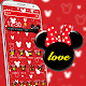 Red cute bow cartoon mouse theme