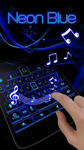 玩生產應用App|Neon Blue GO Keyboard Theme免費|APP試玩