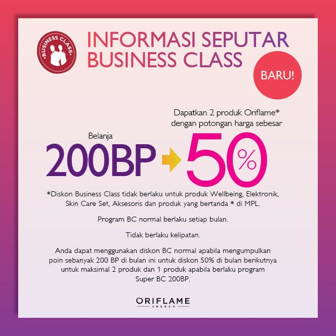 business class Oriflame