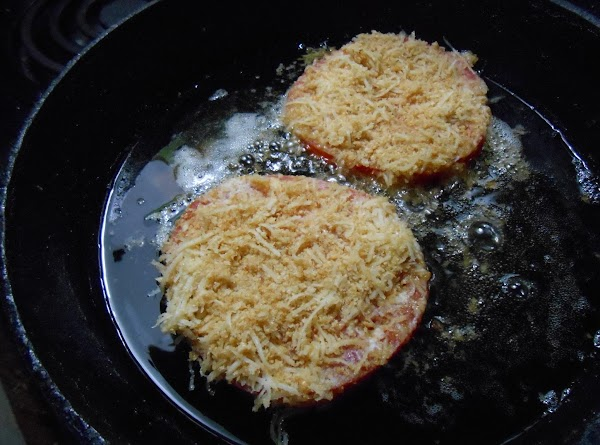 Fry in a med high oil for a few minutes on each side till...
