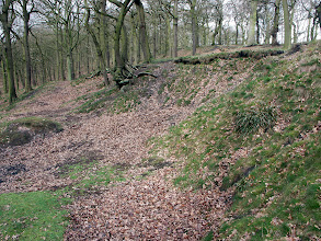 Photo: Site of the entrance to an Old Drift Mine in Northcliffe Wood Shipley