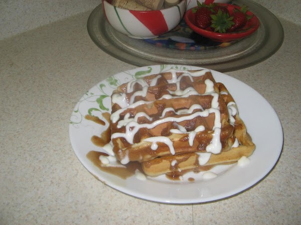 Then drizzle with lots of Sour Cream Sauce and enjoy.