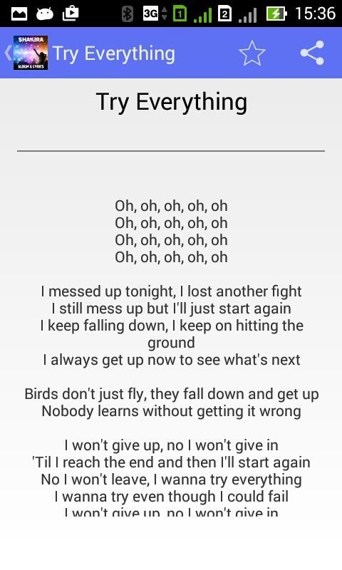 Shakira Try Everything Lyrics The Expert