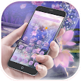Purple butterfly wizard theme apk