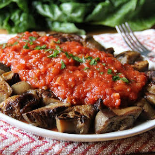 Eggplant & Marinara Appetizer.