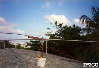 Photo: Tri-Band antenna at Cayman Island