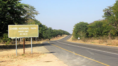 Photo: Entrance to Chobe National Park