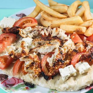 Chicken, Tomato and Feta Flatbread.