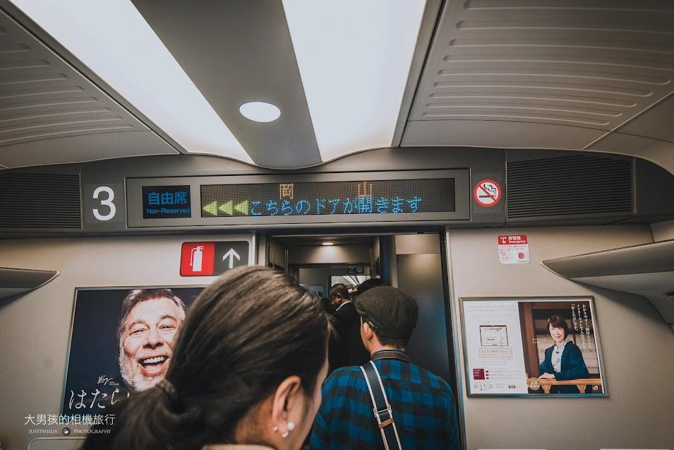 持關西廣域周遊券搭乘新大阪到岡山區間的新幹線僅能搭乘自由坐車廂。