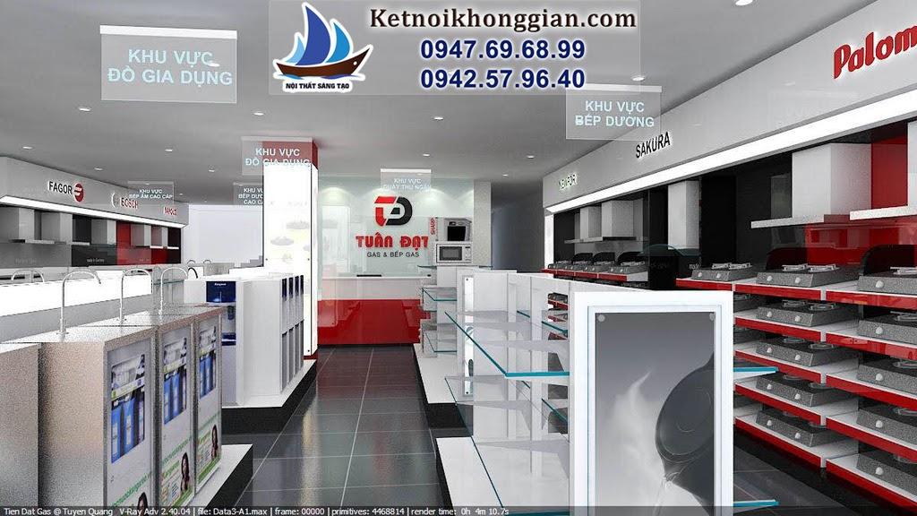 thiết kế cửa hàng thiết bị nhà bếp đẳng cấp nhất miền bắc