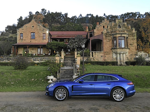 The Porsche Panamera Sport Turismo adds to the drama at Prynnsberg Manor in the eastern Free State.