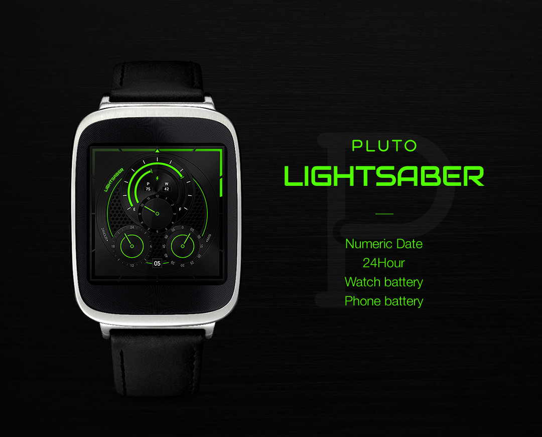 Lightsaber watchface by Pluto- screenshot