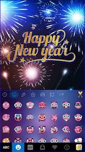 Happy New Year Kika Keyboard - náhled