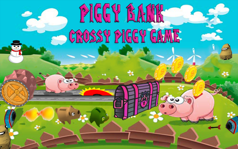 Скриншот Piggy Bank - Crossy Piggy Game