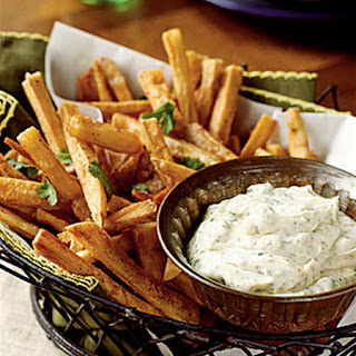 Yucca Fries with Cilantro Mayonaise