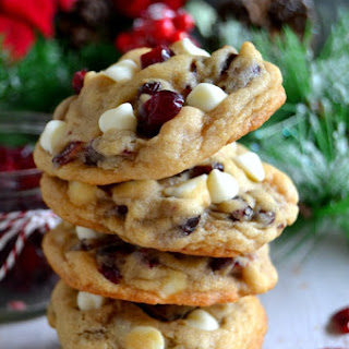 The BEST Soft & Chewy Cranberry White Chocolate Chip Cookies.