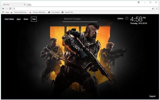Call Of Duty Black Ops 4 HD Wallpaper New Tab