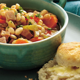 Slow-Cooker Smoky Ham and Navy Bean Stew Recipe