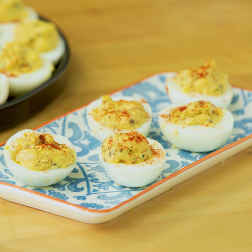 """Mama's Deviled Eggs""""This recipe is one my mom taught me years ago...."""